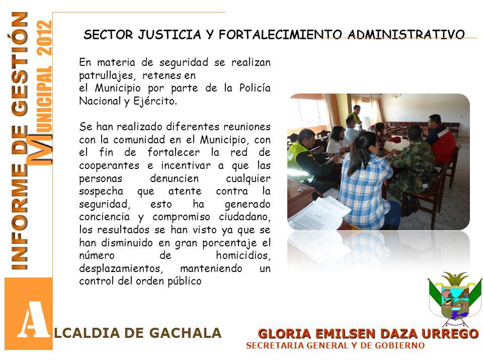 GLORIA EMILSEN DAZA URREGO LCALDIA DE GACHALA GLORIA EMILSEN DAZA URREGO SECRETARIA GENERAL Y DE GOBIERNO M M UNICIPAL 2012 A COMISARIA DE FAMILIA AUDIENCIAS DE CONCILIACION DE CUSTODIA PROVISIONAL Y CUIDADO PERSONAL: 10 CONCILIADAS5 FRACASADAS5