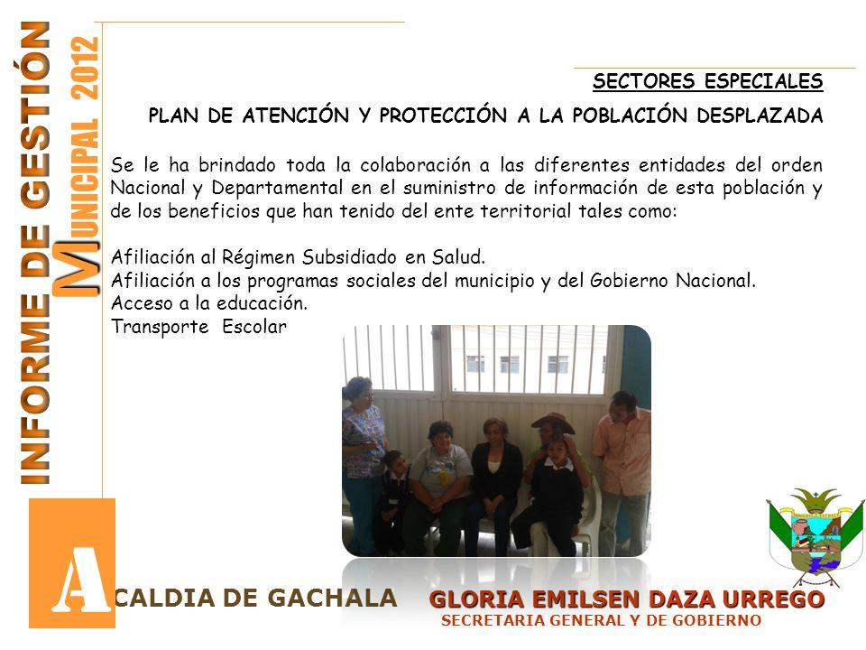 GLORIA EMILSEN DAZA URREGO LCALDIA DE GACHALA GLORIA EMILSEN DAZA URREGO SECRETARIA GENERAL Y DE GOBIERNO M M UNICIPAL 2012 A En relación al declaratoria del siniestro del contrato No 230 de 2008 la Aseguradora en el mes de Enero de 2012 reintegro al Municipio el valor girado como anticipo al contratista Fredy Molina por lo tanto el Municipio en este caso no perdió los recursos.