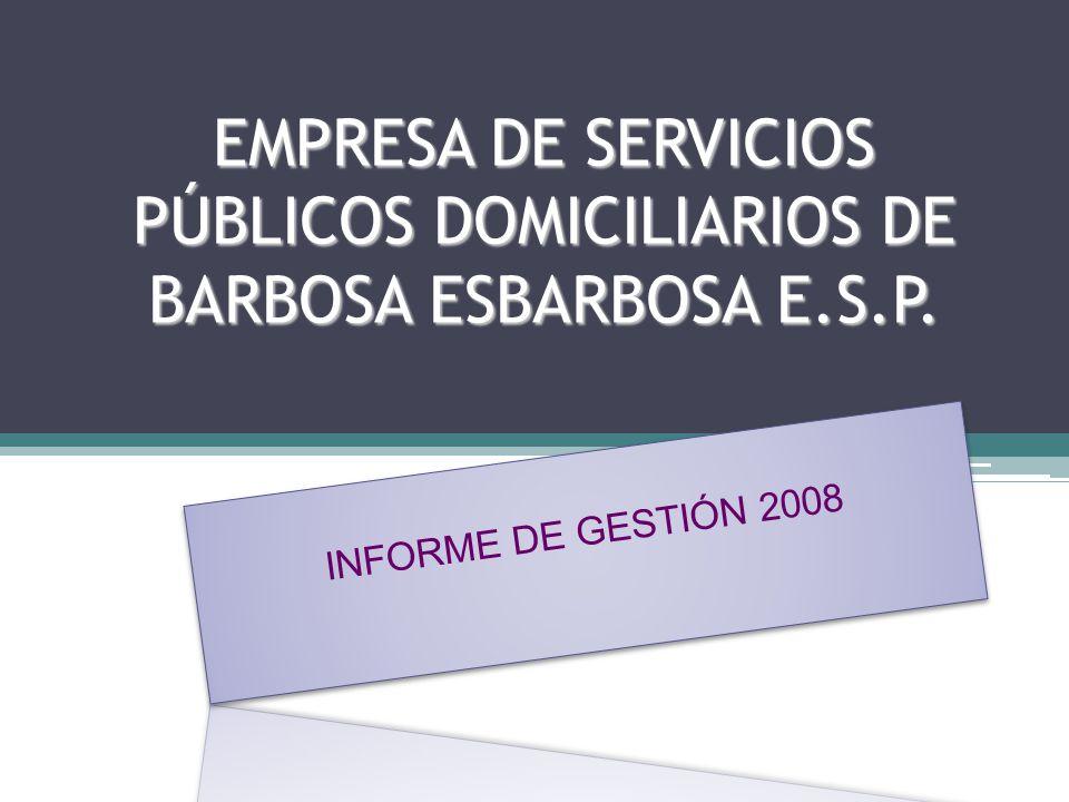 EMPRESA DE SERVICIOS PÚBLICOS DOMICILIARIOS DE BARBOSA ESBARBOSA E.S.P.