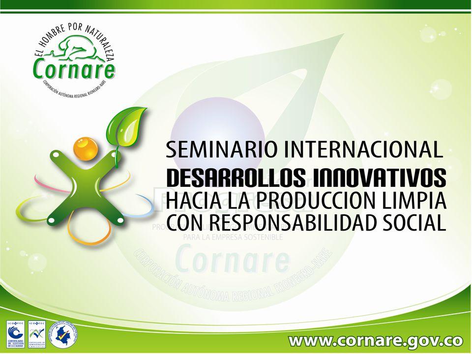Pacto Global y Objetivos del Milenio EVENTO: DESARROLLO INNOVATIVOS EN PRODUCCIÓN MAS LIMPIA CON RESPONSABILIDAD SOCIAL Rio Negro Antioquia, 8 de octubre de 2010