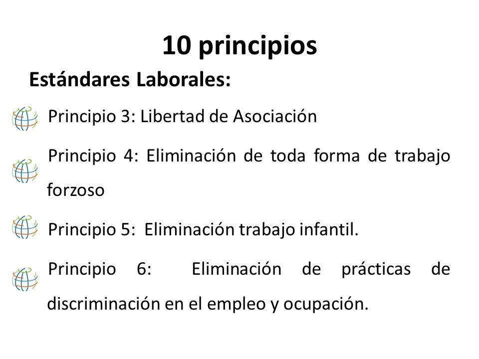 10 principios Medio Ambiente: Principio 7: Enfoque preventivo que favorezca el medio ambiente.