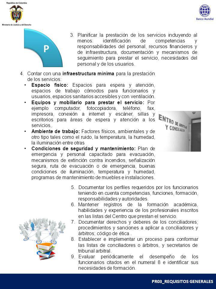 PR03_REQUISITOS GENERALES 3.Planificar la prestación de los servicios incluyendo al menos: identificación de competencias y responsabilidades del pers