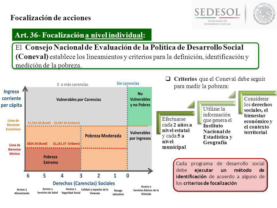 Evaluación de la Política de Desarrollo Social Art.