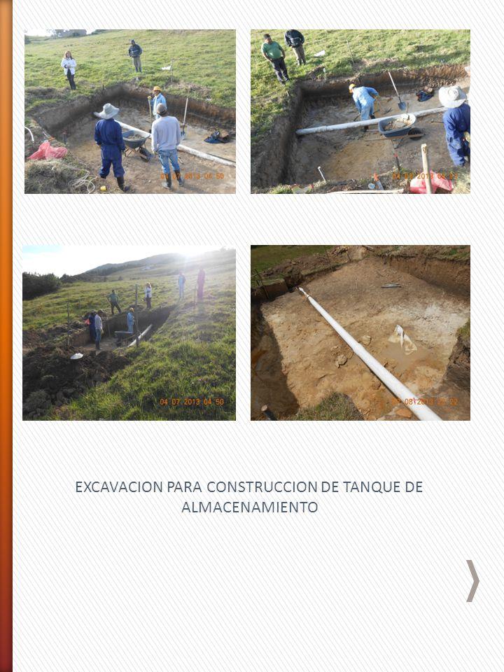 EXCAVACION PARA CONSTRUCCION DE TANQUE DE ALMACENAMIENTO