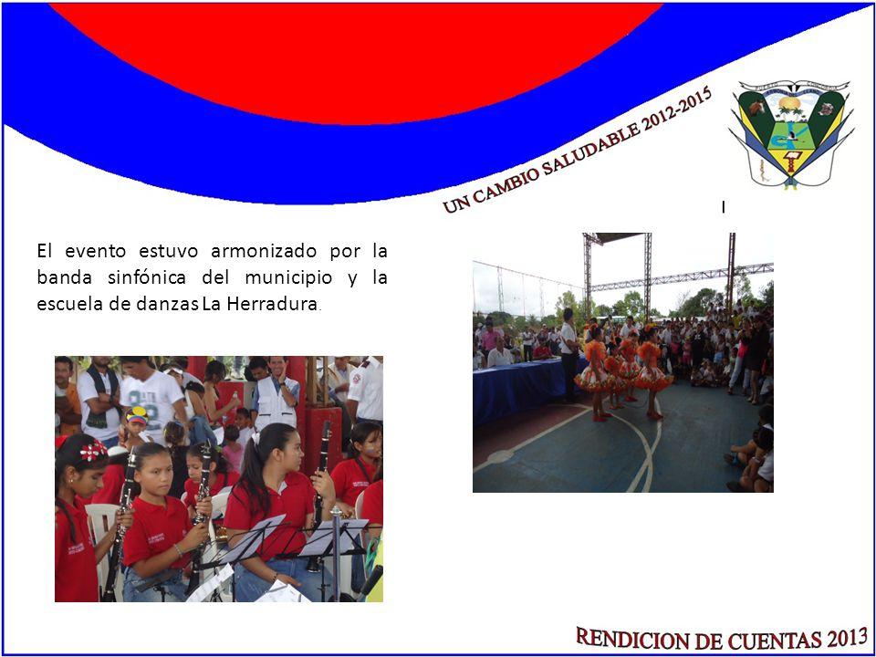 El evento estuvo armonizado por la banda sinfónica del municipio y la escuela de danzas La Herradura.