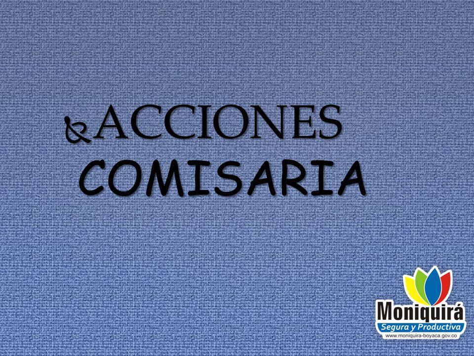 ACCIONES COMISARIA ACCIONES COMISARIA
