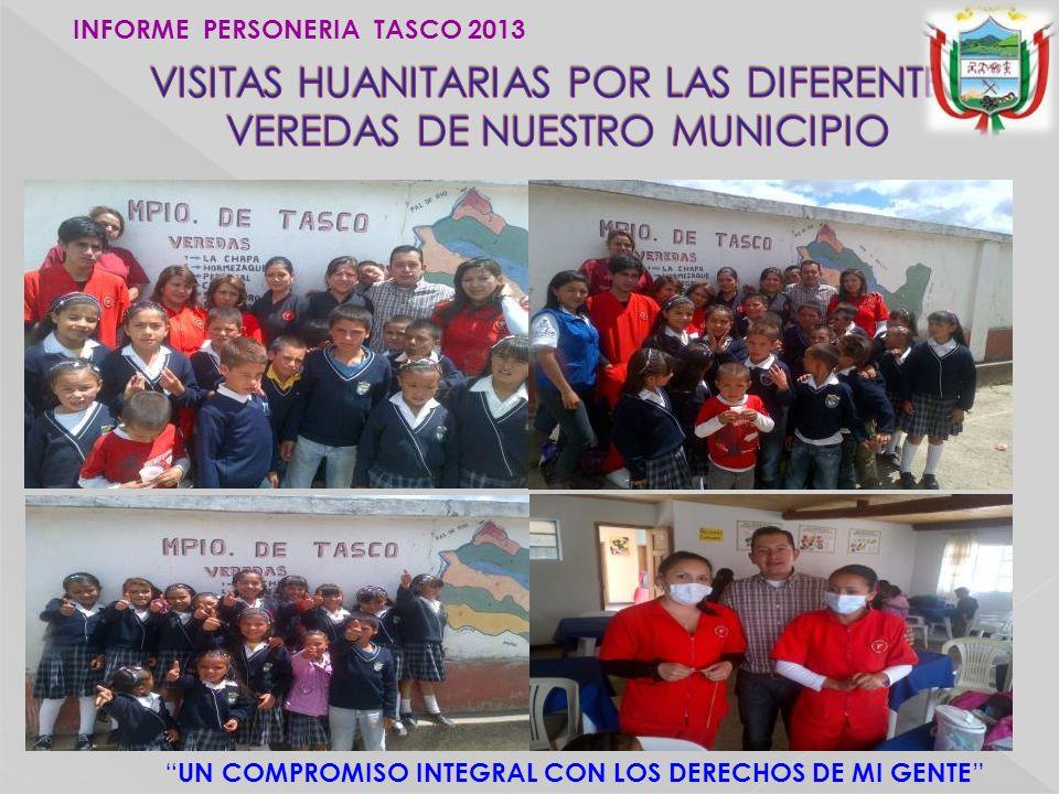 UN COMPROMISO INTEGRAL CON LOS DERECHOS DE MI GENTE INFORME PERSONERIA TASCO 2013