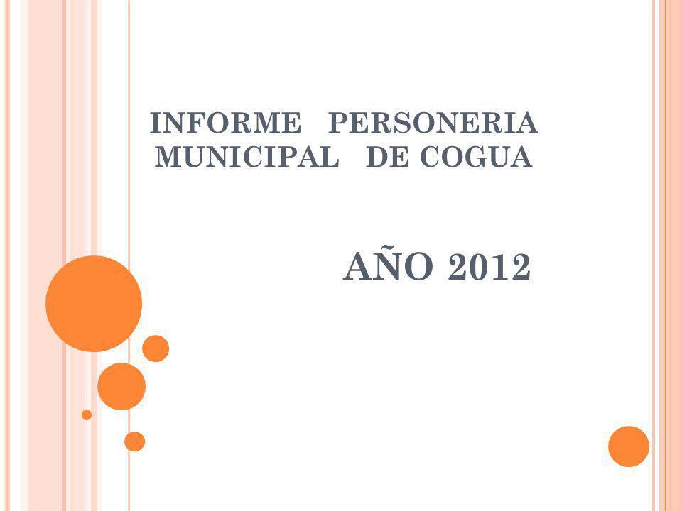 INFORME PERSONERIA MUNICIPAL DE COGUA AÑO 2012