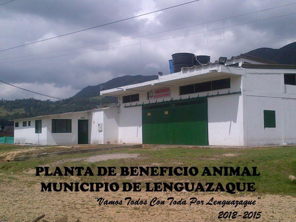 PLANTA DE BENEFICIO ANIMAL MUNICIPIO DE LENGUAZAQUE Vamos Todos Con Toda Por Lenguazaque 2012-2015