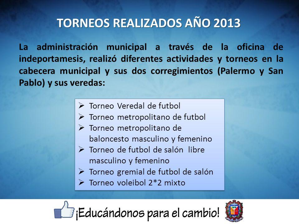 La administración municipal a través de la oficina de indeportamesis, realizó diferentes actividades y torneos en la cabecera municipal y sus dos corr