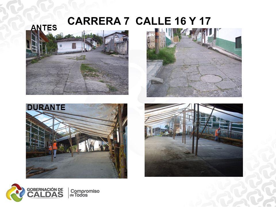 CARRERA 7 CALLE 16 Y 17 ANTES DURANTE