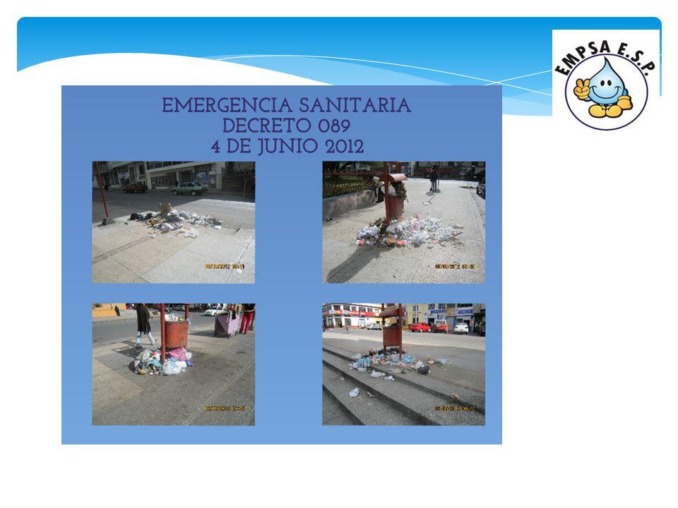 TERMINACION DEL CONTRATO CON LA EMPRESA TERRASEO La empresa Terraseo el día 28 de mayo de 2012, manda un oficio a la EMPSA E.S.P.