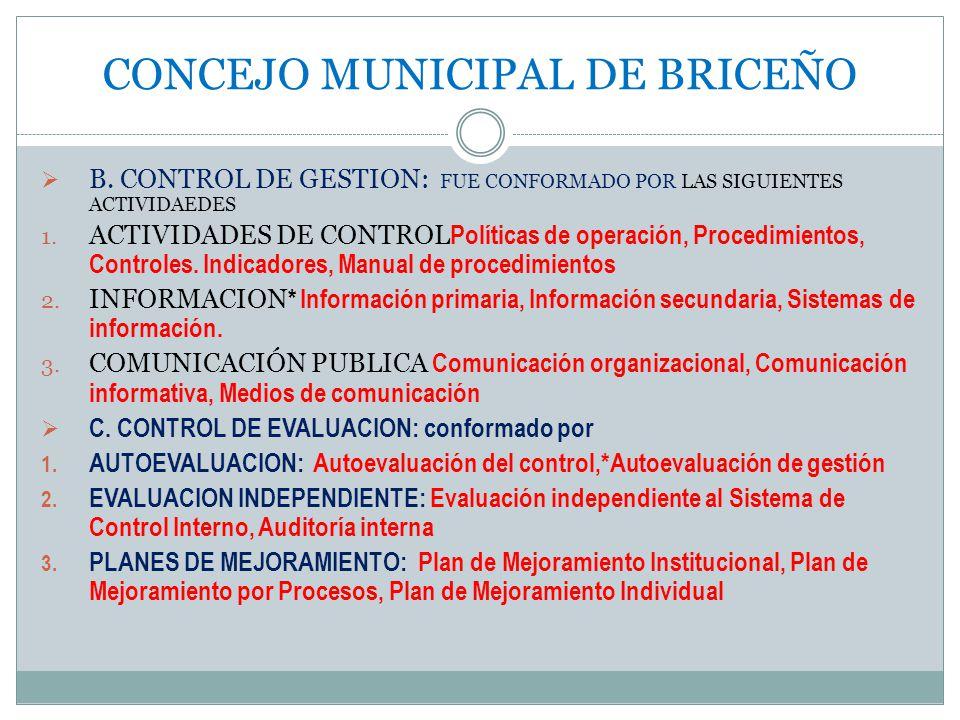 CONCEJO MUNICIPAL DE BRICEÑO B.