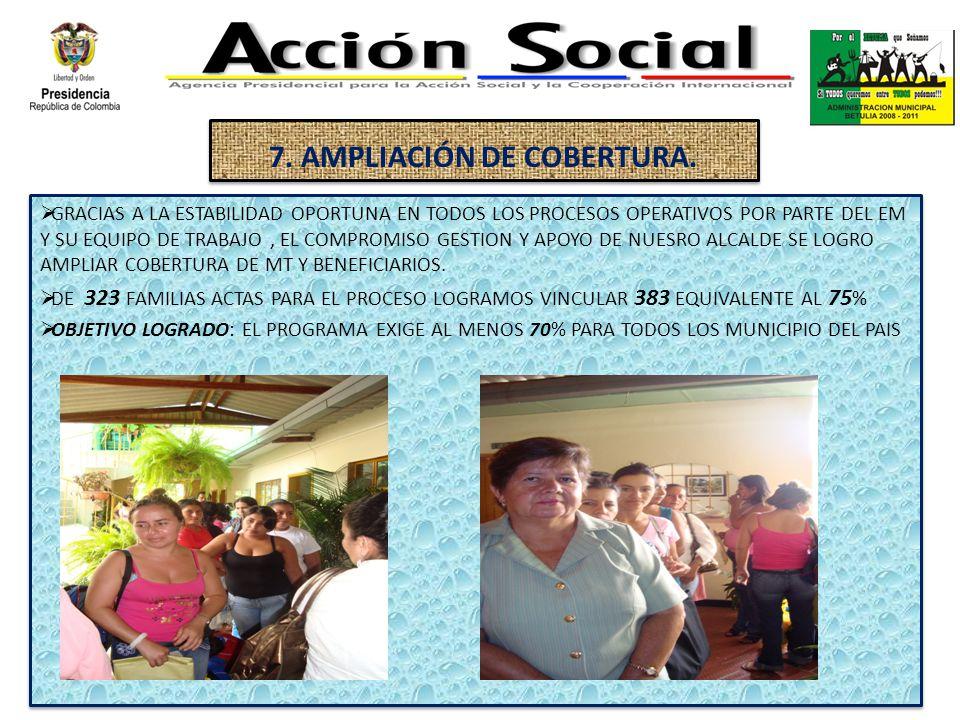 7. AMPLIACIÓN DE COBERTURA.