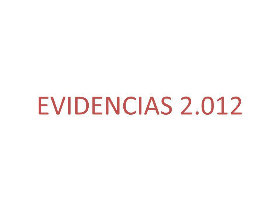 EVIDENCIAS 2.012