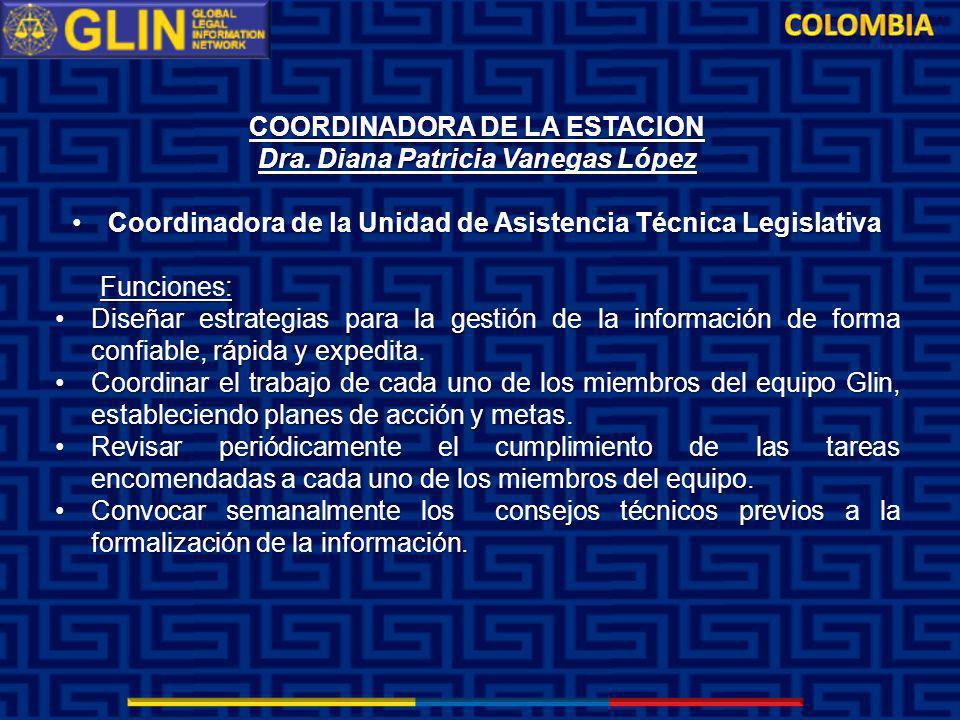 COORDINADORA DE LA ESTACION Dra.