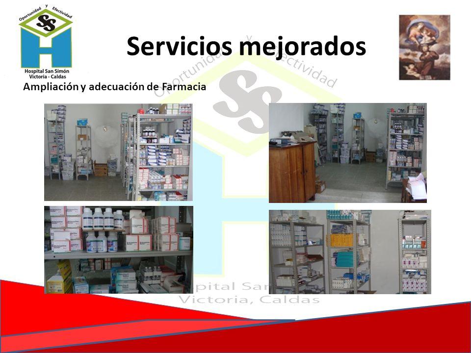 Ampliación y adecuación de Farmacia Servicios mejorados
