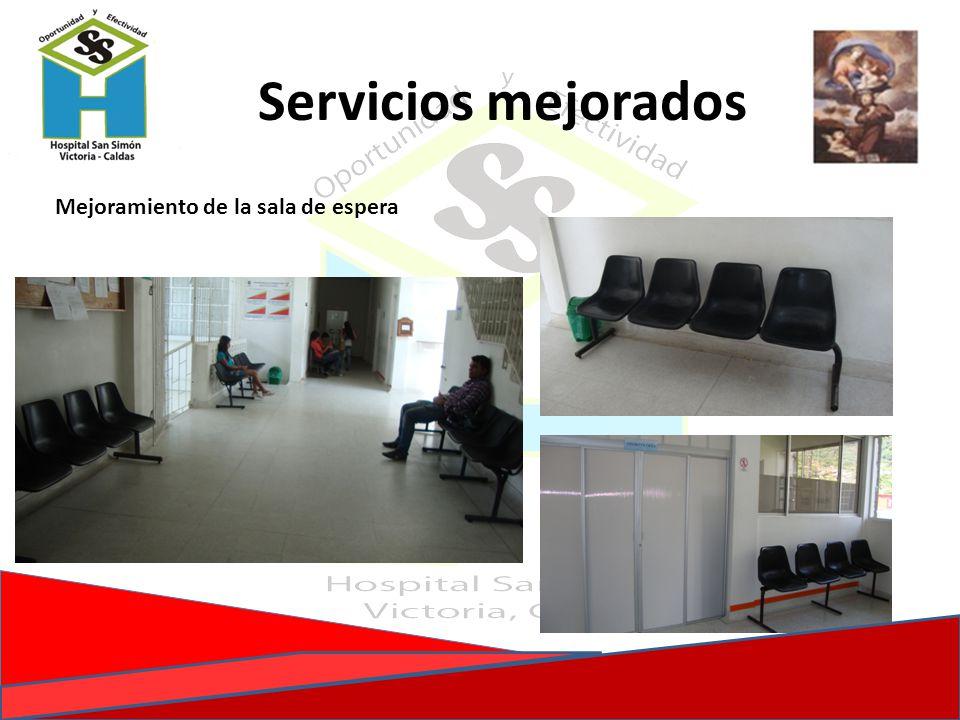 Mejoramiento de la sala de espera Servicios mejorados