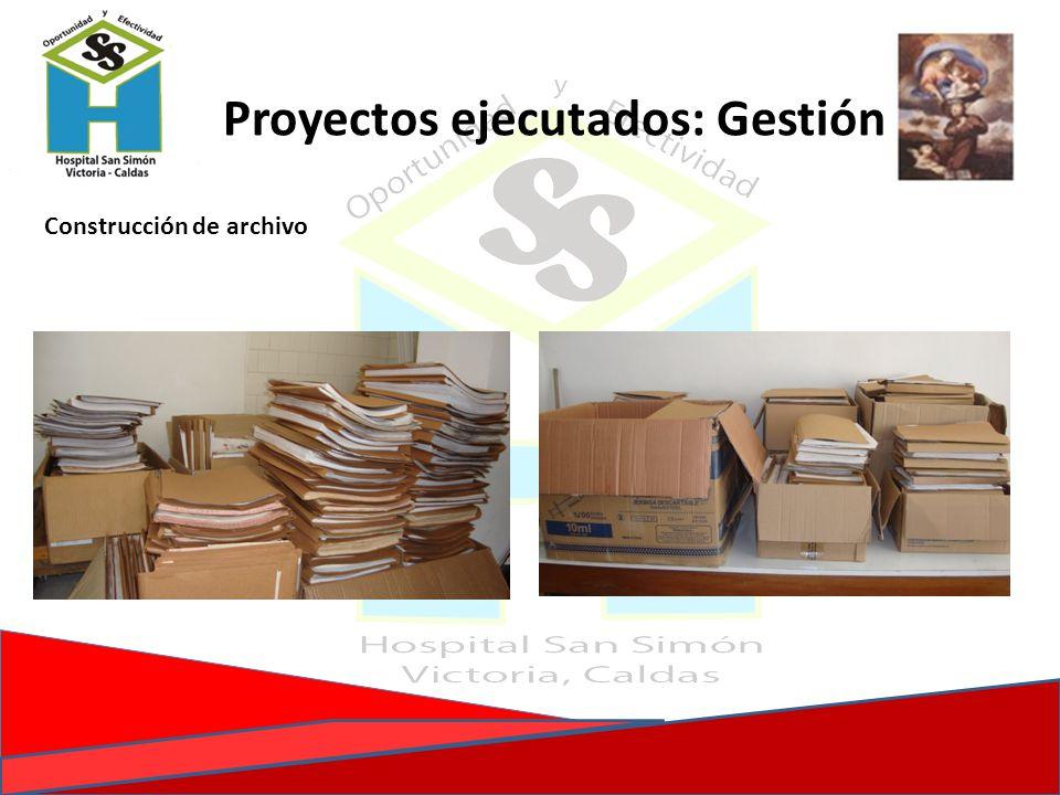 Proyectos ejecutados: Gestión Construcción de archivo