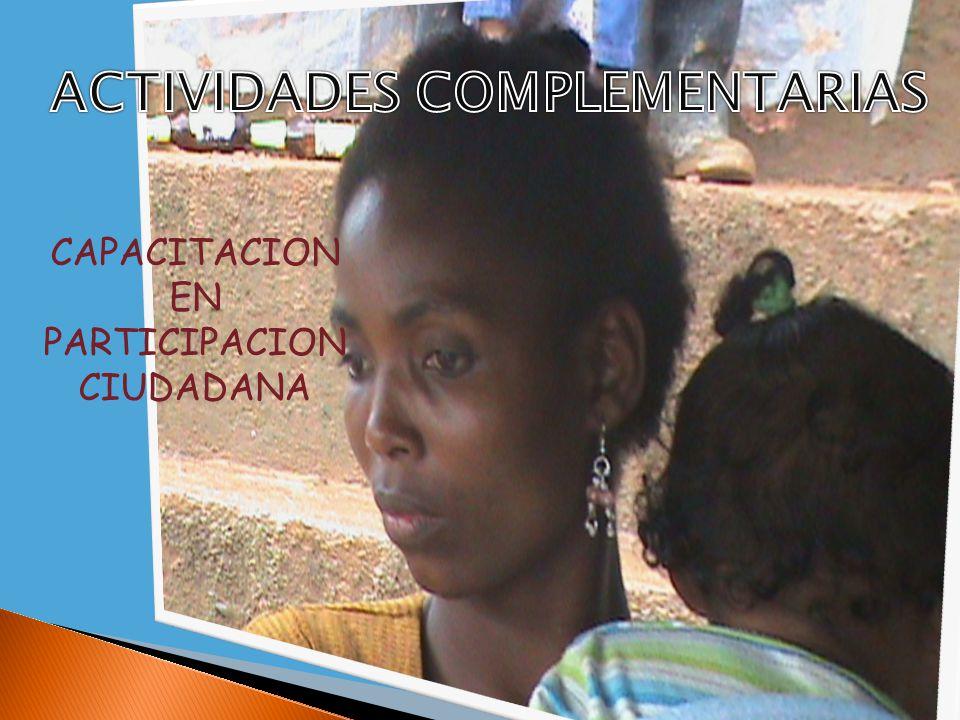 CAPACITACION EN PARTICIPACION CIUDADANA