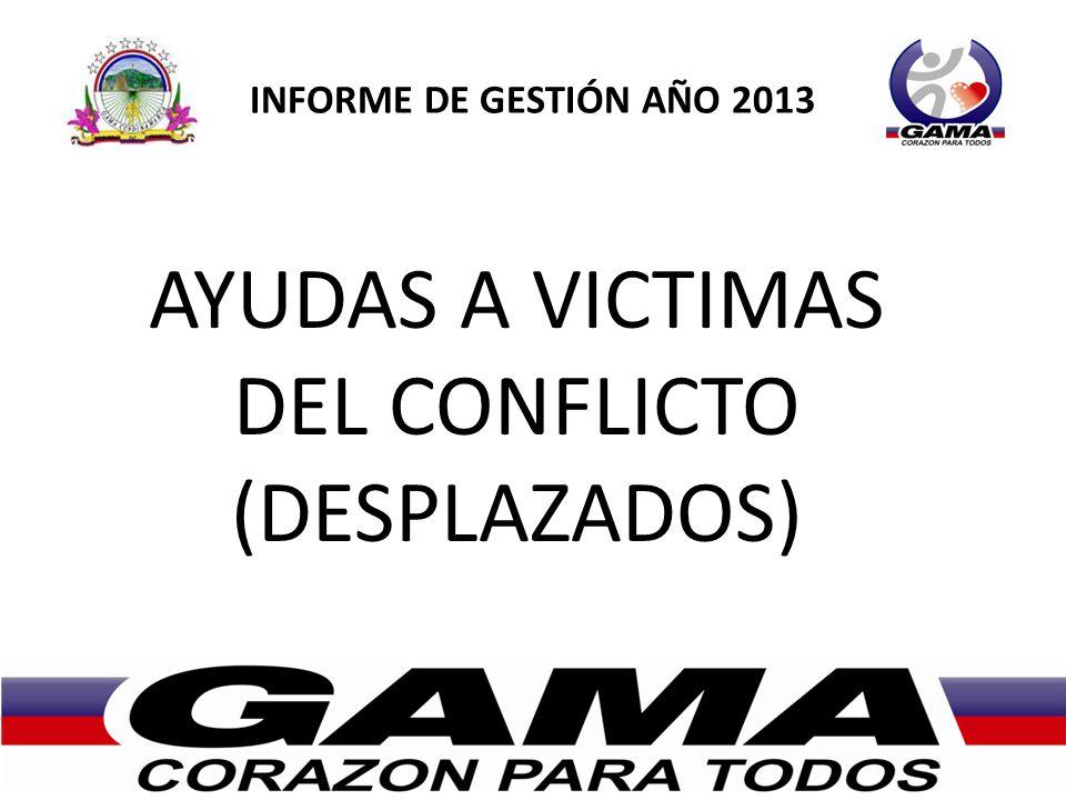 AYUDAS A VICTIMAS DEL CONFLICTO (DESPLAZADOS)