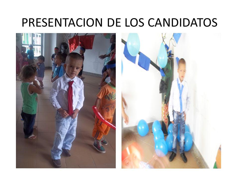 PRESENTACION DE LOS CANDIDATOS