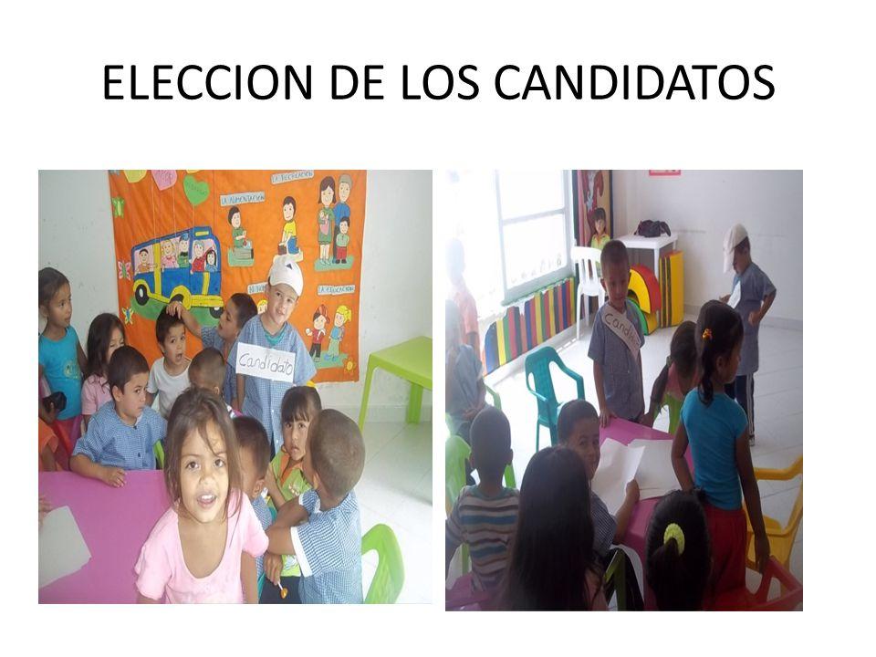 ELECCION DE LOS CANDIDATOS