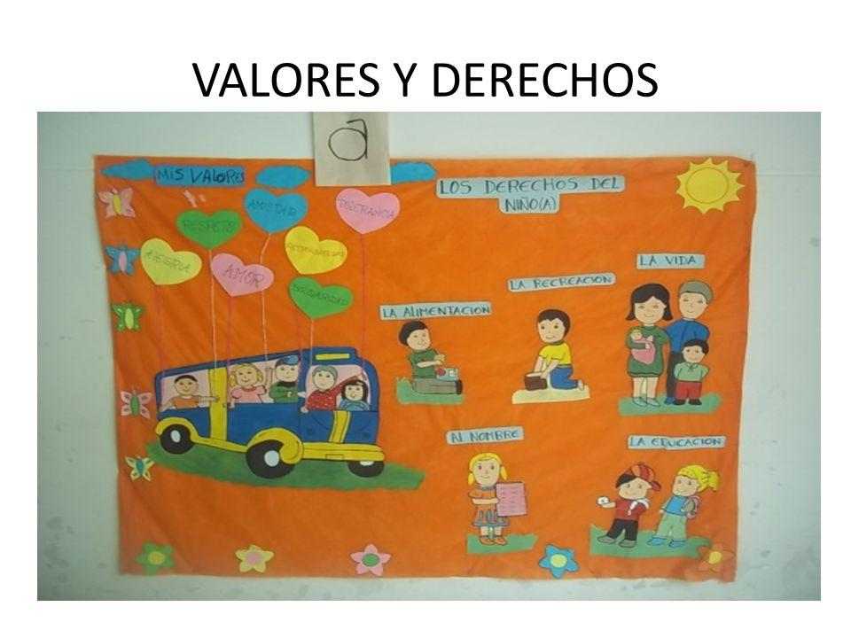 VALORES Y DERECHOS