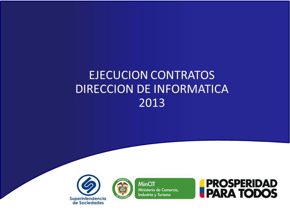 EJECUCION CONTRATOS DIRECCION DE INFORMATICA 2013