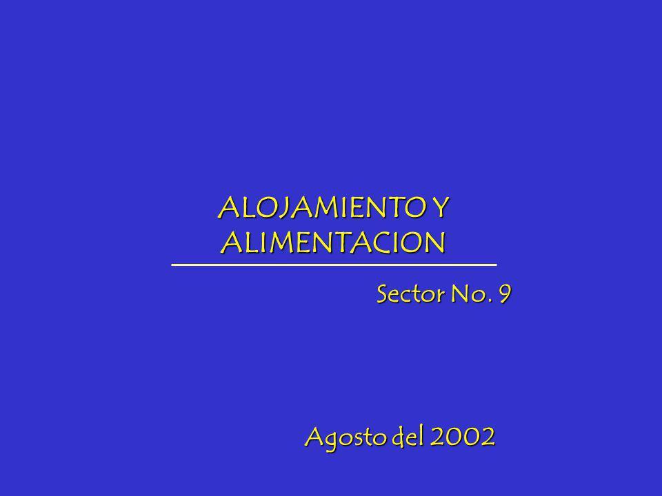ALOJAMIENTO Y ALIMENTACION Sector No. 9 Agosto del 2002