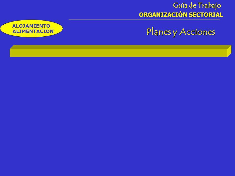 Guía de Trabajo ORGANIZACIÓN SECTORIAL ALOJAMIENTO ALIMENTACION Planes y Acciones