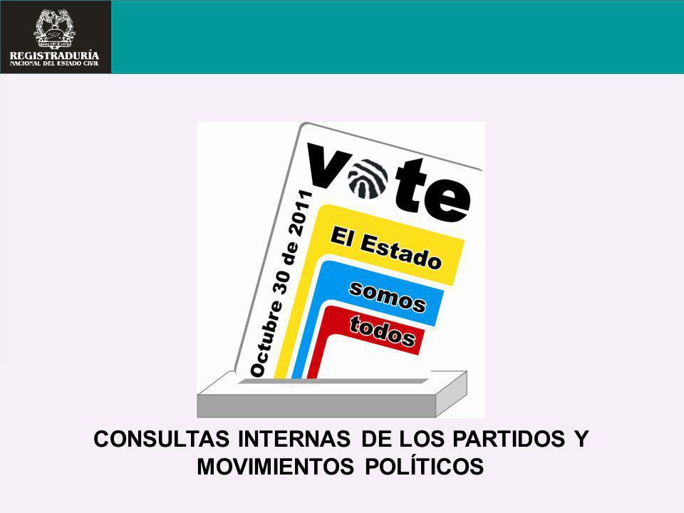 CONSULTAS INTERNAS DE LOS PARTIDOS Y MOVIMIENTOS POLÍTICOS