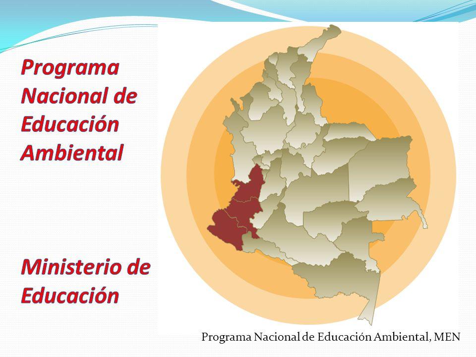 Política Nacional de Educación Ambiental Política Pública Propuesta de contra-escuela Escuela Convencional – Escuela Abierta Calidad de la educación CONTEXTO Programa Nacional de Educación Ambiental, MEN