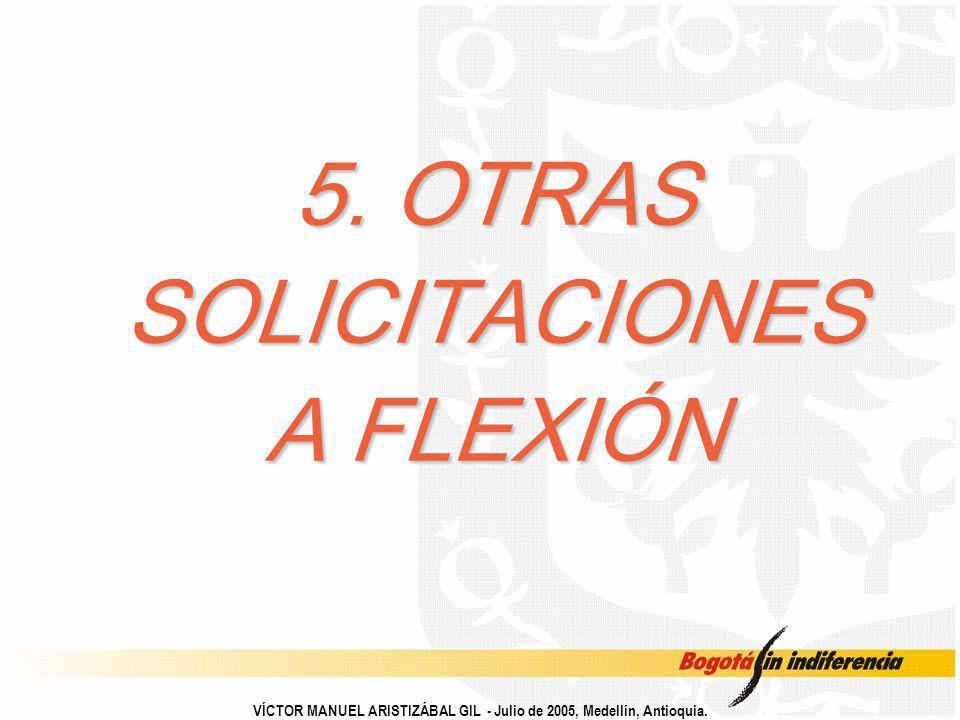 5. OTRAS SOLICITACIONES A FLEXIÓN VÍCTOR MANUEL ARISTIZÁBAL GIL - Julio de 2005, Medellín, Antioquia.