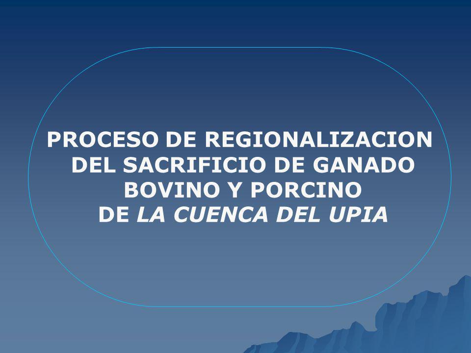 PROCESO DE REGIONALIZACION DEL SACRIFICIO DE GANADO BOVINO Y PORCINO DE LA CUENCA DEL UPIA