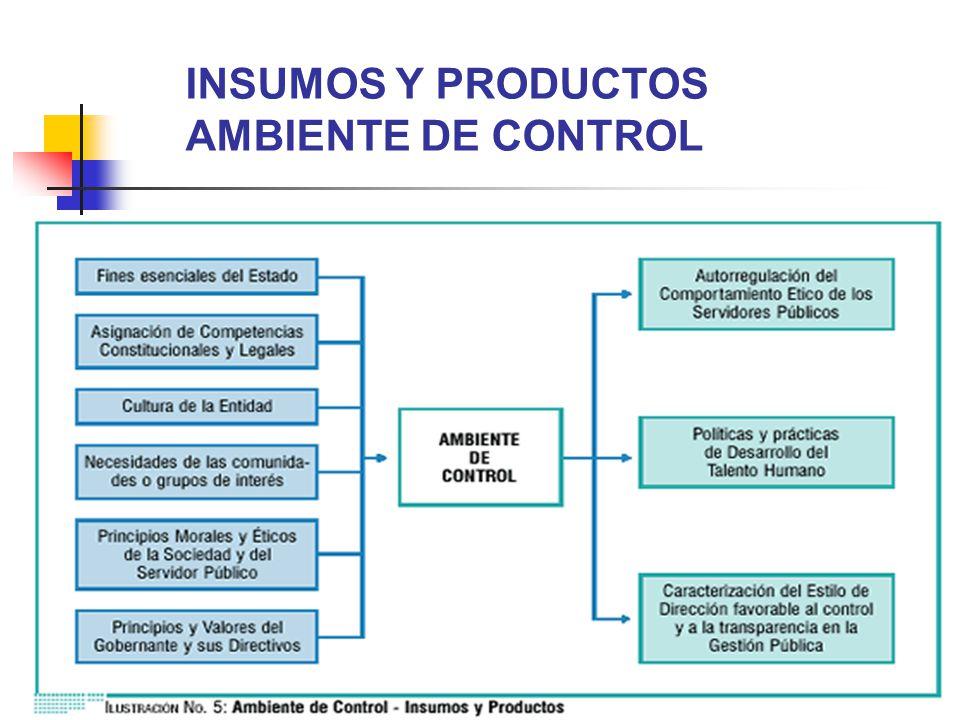 INSUMOS Y PRODUCTOS AMBIENTE DE CONTROL
