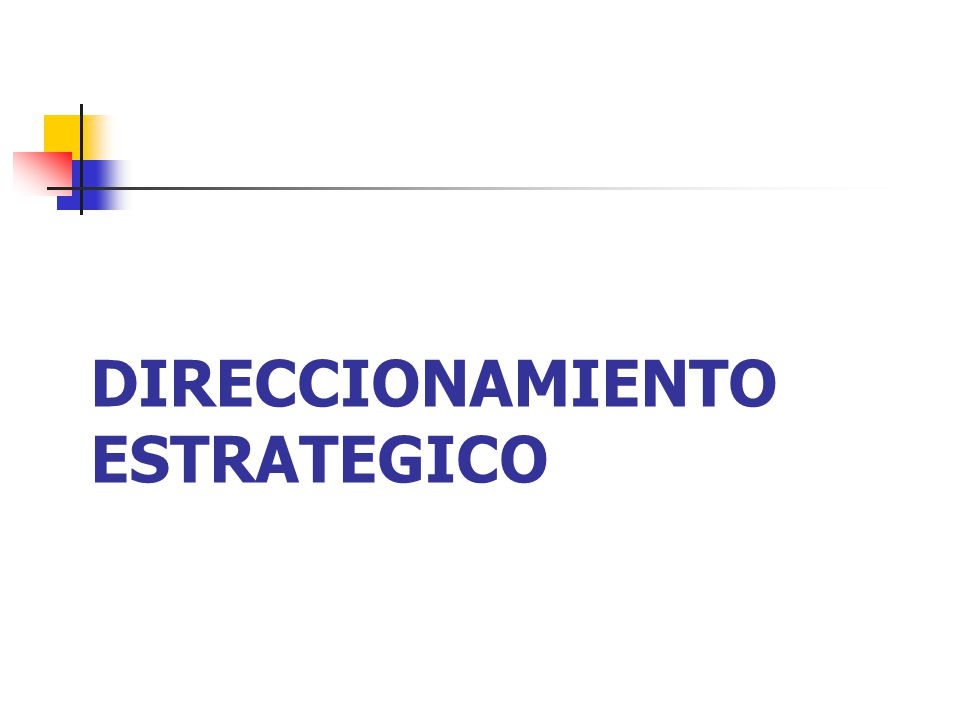 DIRECCIONAMIENTO ESTRATEGICO