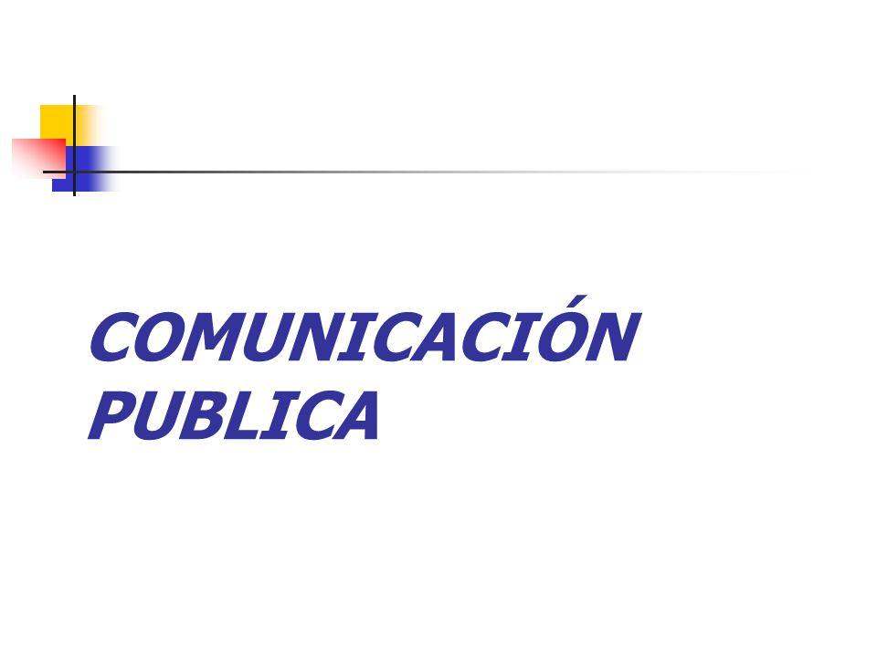 COMUNICACIÓN PUBLICA