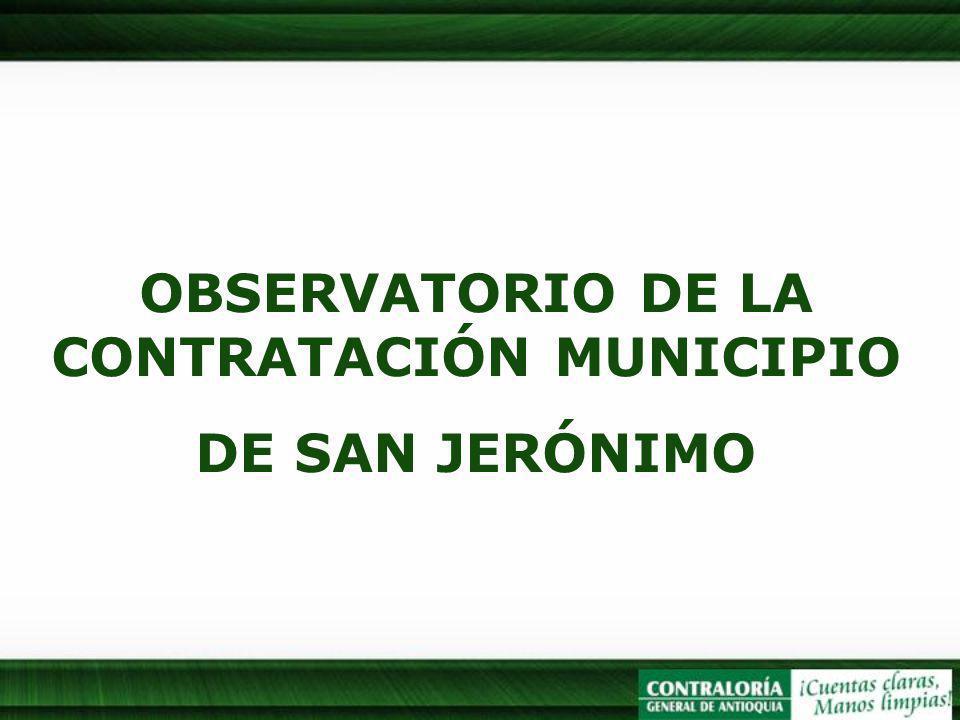 OBSERVATORIO DE LA CONTRATACIÓN MUNICIPIO DE SAN JERÓNIMO