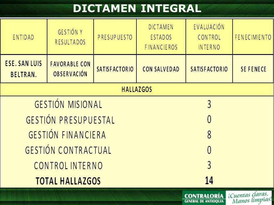 DICTAMEN INTEGRAL