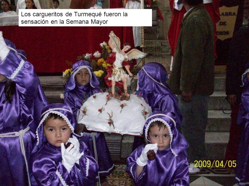 Los cargueritos de Turmequé fueron la sensación en la Semana Mayor