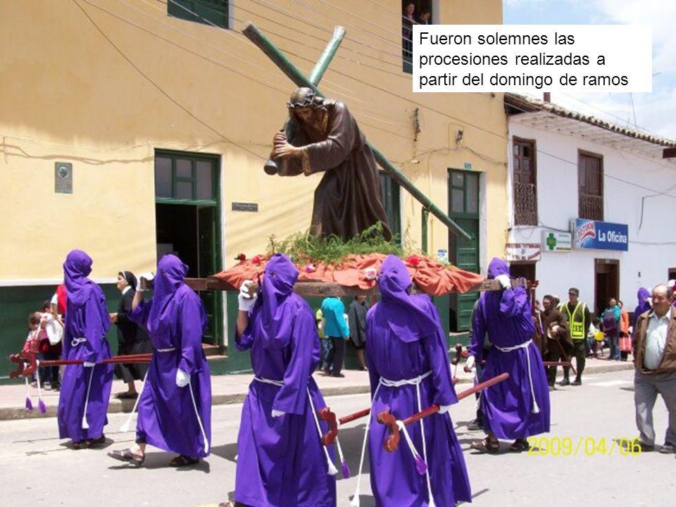 Fueron solemnes las procesiones realizadas a partir del domingo de ramos