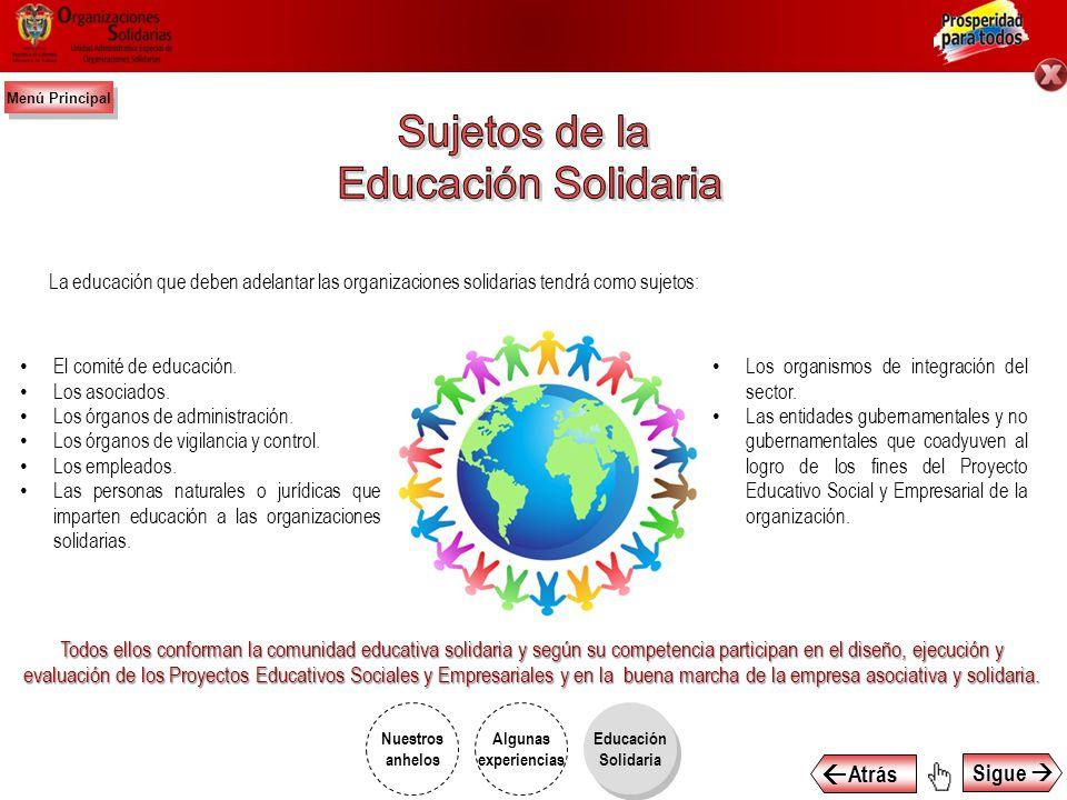 1.Estimular y generar amplios procesos de desarrollo empresarial participativo que involucren a las organizaciones solidarias en el crecimiento económ