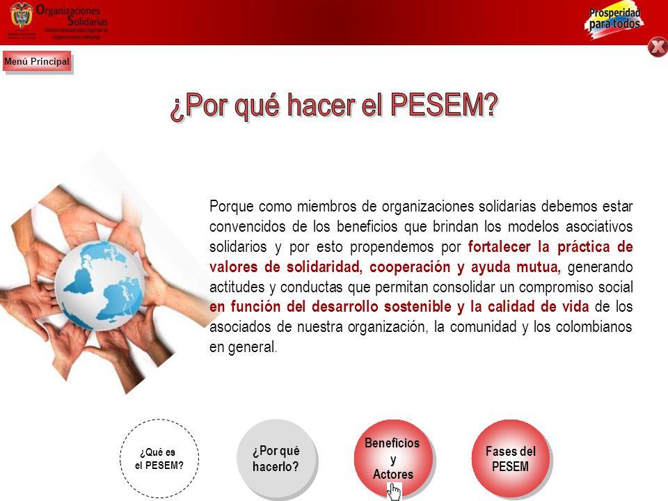 Fases del PESEM Fases del PESEM Beneficios y Actores Beneficios y Actores P – Proyecto: como unidad de planeación. E – Educativo: con la responsabilid