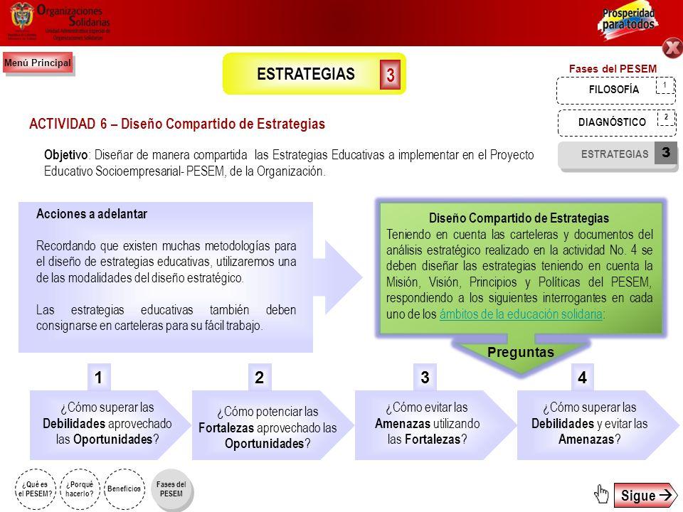 El desarrollo de la Actividad 5 se describió anteriormente en la primera fase del PESEM, denominada: ACTIVIDAD 5 – Construcción participativa del marc