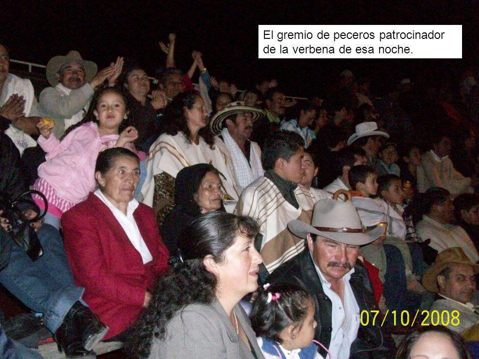 El gremio de peceros patrocinador de la verbena de esa noche.