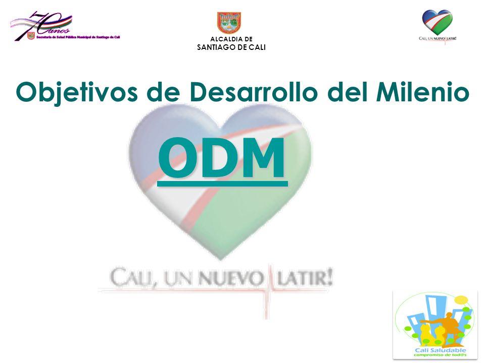 ALCALDIA DE SANTIAGO DE CALI ODM Objetivos de Desarrollo del Milenio