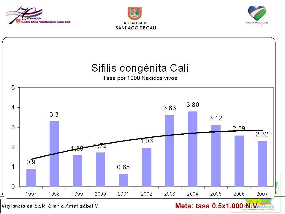 ALCALDIA DE SANTIAGO DE CALI Meta: tasa 0.5x1.000 N.V.