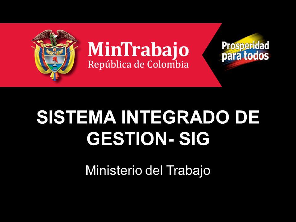 SISTEMA INTEGRADO DE GESTION- SIG Ministerio del Trabajo