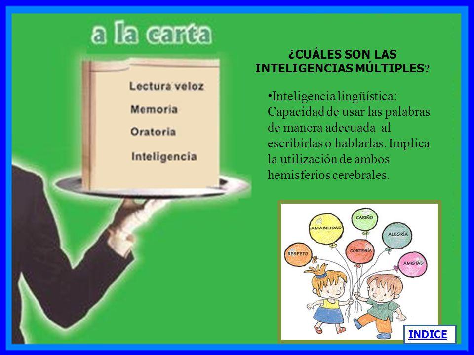 Según esta teoría, todos los seres humanos poseen las ocho inteligencias en mayor o menor medida. Pero que las combinamos y las usamos en diferentes g